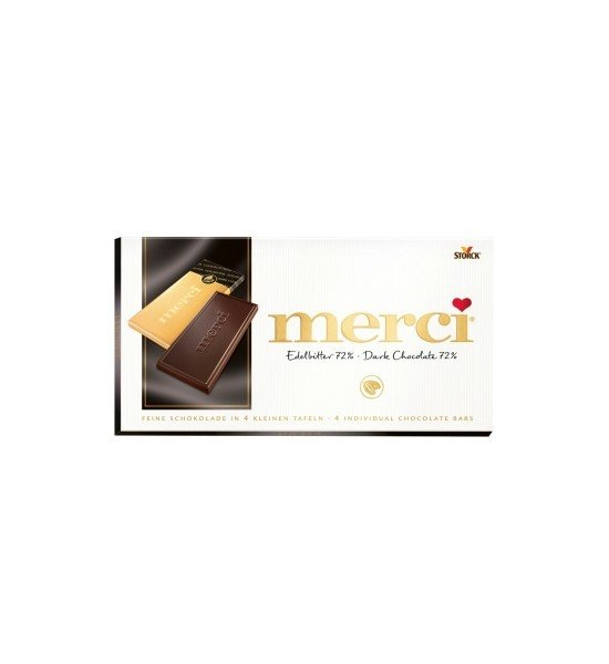 Merci Dark Chocolate 72% Cacao 100 g