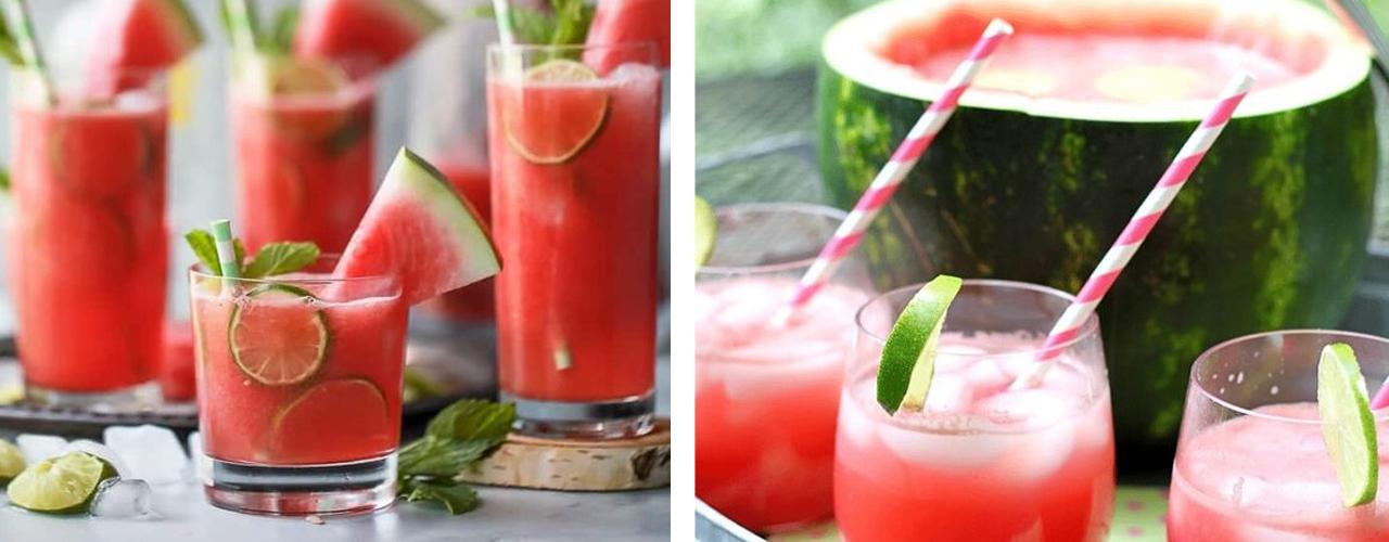 Cocktail-uri cu pepene roșu