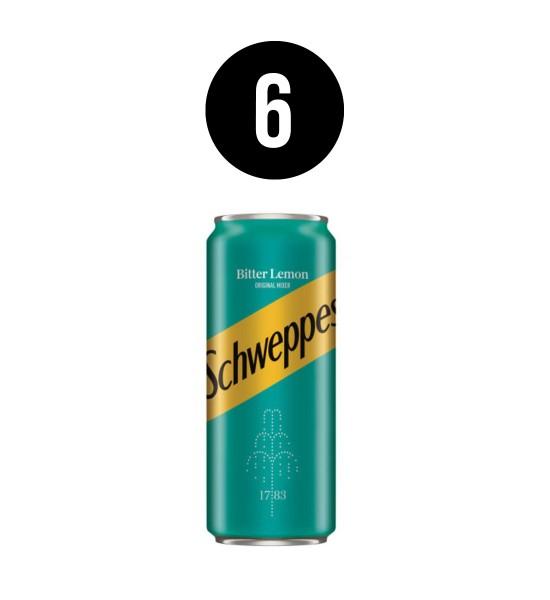 Schweppes Bitter Lemon BAX 6 dz. x 0.33L