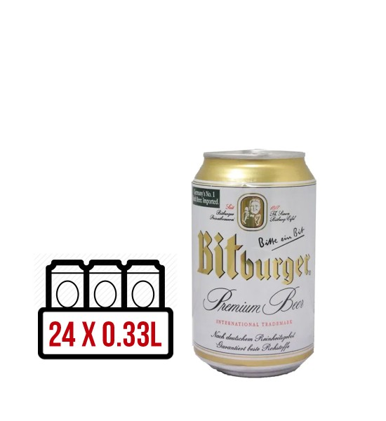 Bitburger Premium Pils BAX 24 dz. x 0.33L