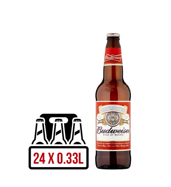Budweiser Lager American BAX 24 st. x  0.33L
