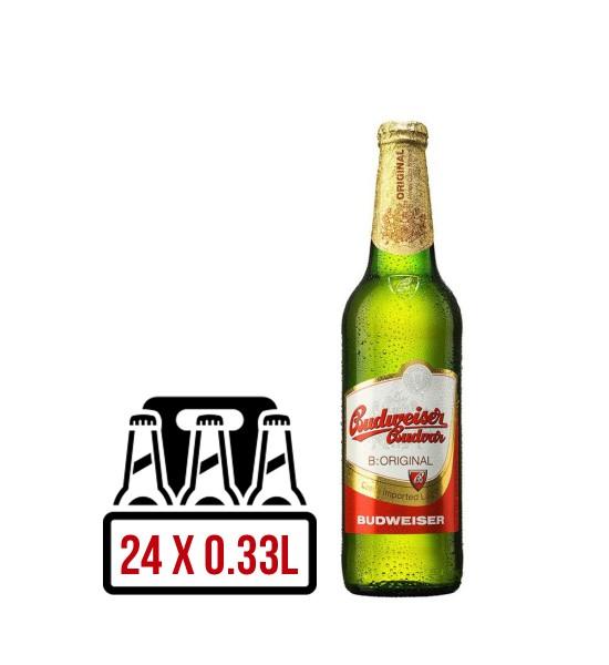 Budweiser Budvar Czech Premium Lager BAX 24 st. x 0.33L