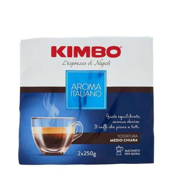 Kimbo Aroma Italiano cafea măcinată 2x250 g