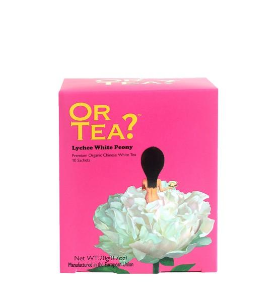 Or Tea Lycheee White Peony Pillow Organic Tea 20g