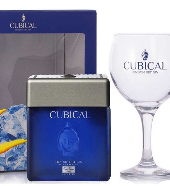 Botanic Cubical Ultra Premium London Dry Gin Gift Set 0.7L