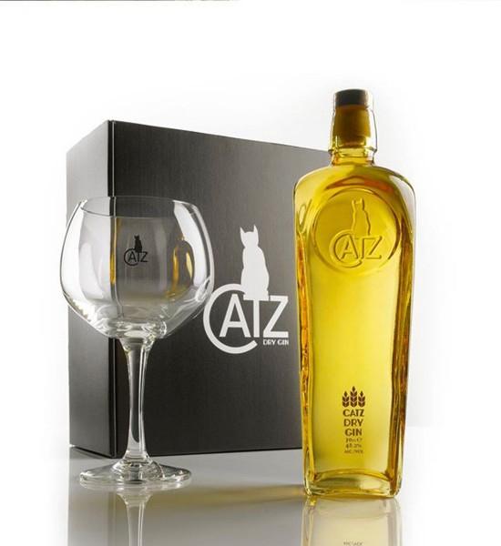 Catz Dry Gin Gift Set 0.7L
