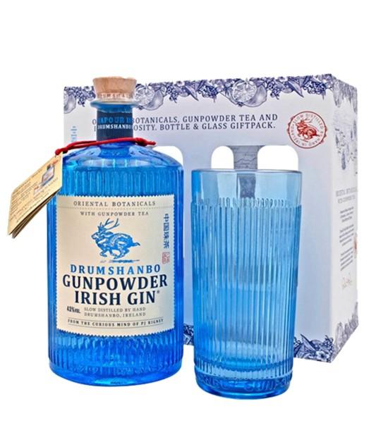 Drumshanbo Gunpowder Irish Gin Gift Set 0.5L