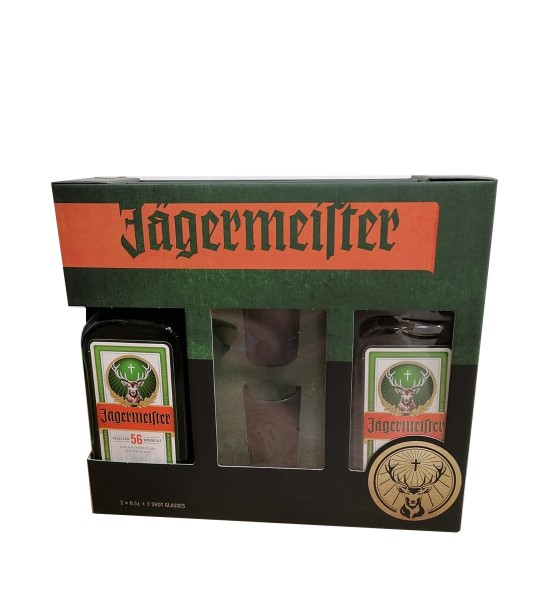 Jagermeister Gift Set 2 sticle x 0.5L