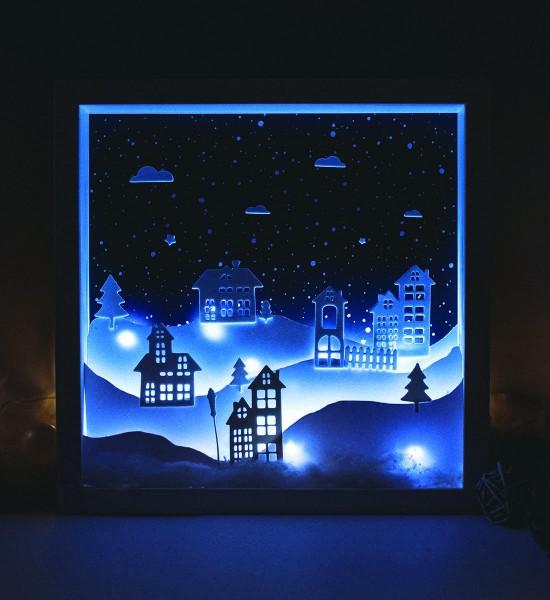 Rama Christmas Edition Peisaj cu Led