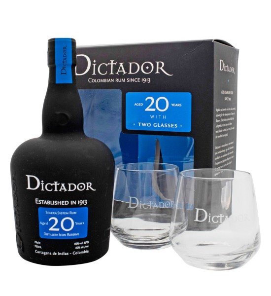 Dictador 20 ani Gift Set 0.7L