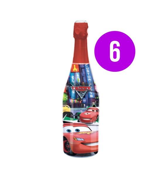Vitapress Sampanie Copii Cars Capsuni & Mere BAX 6 st. x 0.75L