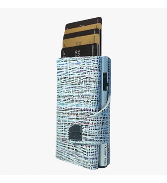 Tru Virtu Portofel Click Slide Bamboo Blue Silver