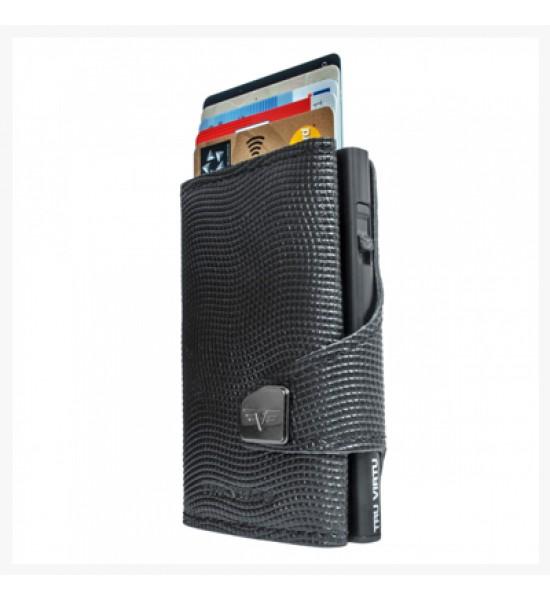 Tru Virtu Portofel Click Slide Croco Black Black