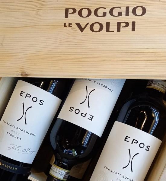Poggio le Volpi Epos Frascati Superiore DOCG Bianco Riserva Gift Set 6 st. x 0.75L