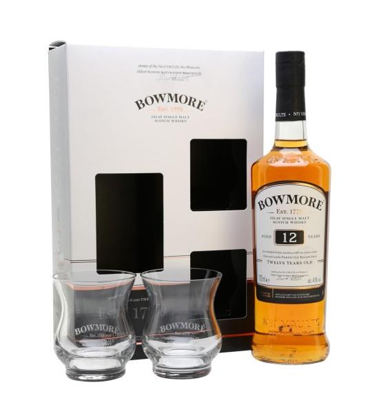 Bowmore 12 ani Gift Set 0.7L