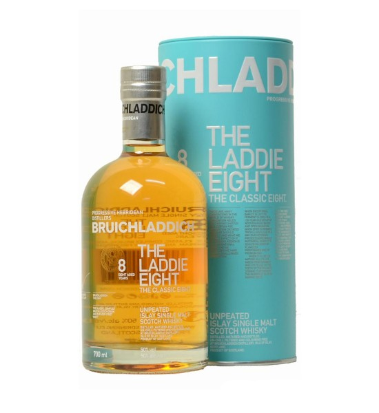 Bruichladdich The Laddie Eight Classic 8 ani tub metal 0.7L
